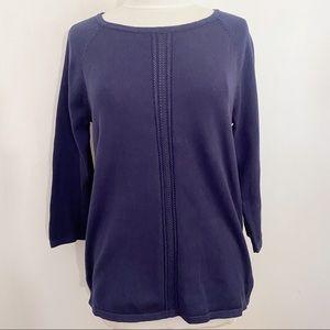 JEANNE PIERRE 100% cotton lightweight sweater M